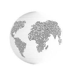 bnary world vector image