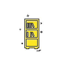 books shelf icon design vector image