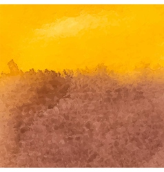 Brown and yellow watercolor background vector