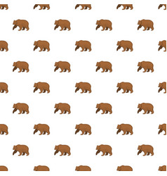 brown bear pattern seamless vector image