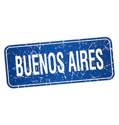 Buenos Aires blue stamp isolated on white vector