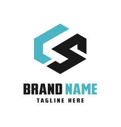 business logo design letters ls vector image