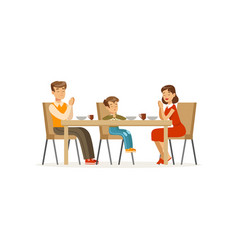 catholic family praying before meal father vector image