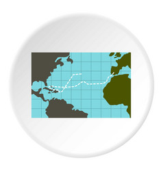 christopher columbus voyage icon circle vector image