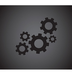 cogs vector image