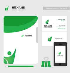 company card with natural logo nad stationary vector image
