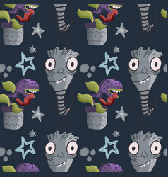 Cute cartoon monsters vector