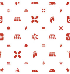 dance icons pattern seamless white background vector image