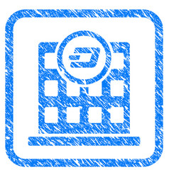 Dash corporation building framed stamp vector