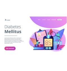 diabetes mellitus concept landing page vector image