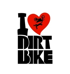 Dirt bike print vector