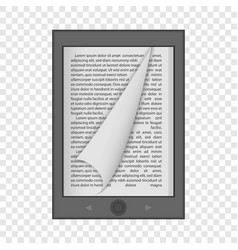 ereader mockup realistic style vector image