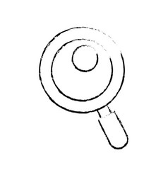 figure magnifying glass tool to search and read vector image