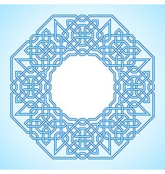 Frame with tangled arabic pattern vector