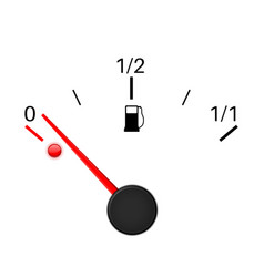 Fuel gauge empty tank vector