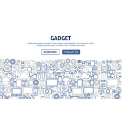 gadget banner design vector image