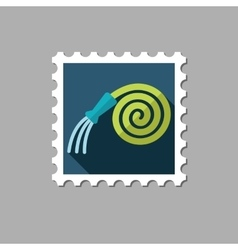 Garden Hose flat stamp with long shadow vector