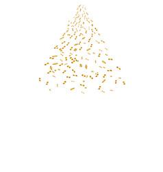 golden confetti isolated festive background vector image