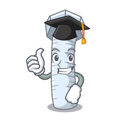 Graduation metal bolt that isolated on mascot vector