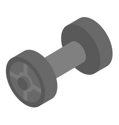 gym dumbbell icon isometric style vector image