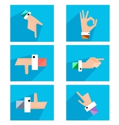 Hands showing symbolic icons vector image