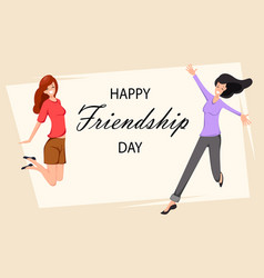 happy friendship day greeting card vector image