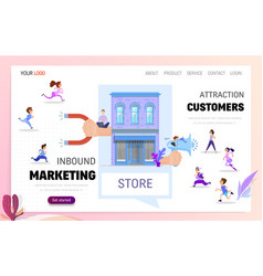 inbound marketing and customer acquisition vector image