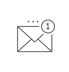 Inbox message line outline icon vector