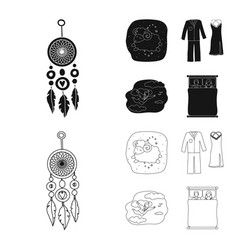 Isolated object of dreams and night symbol vector