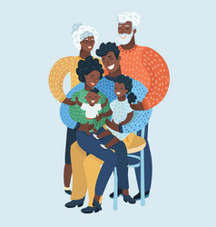 Large family portrait african people vector