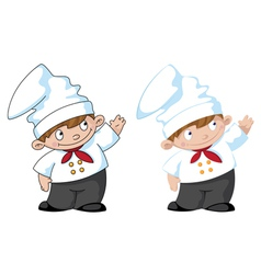little cute cook vector image