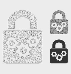 Lock gears mesh network model and triangle vector
