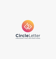 Logo circle letter q colorful style vector