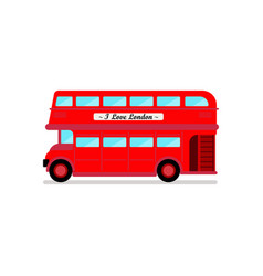 london city bus vector image