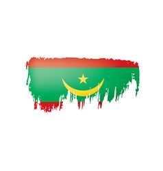 mauritania flag on a white vector image