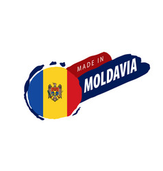 moldova flag on a white vector image