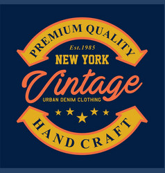 new york vintage denim vector image