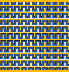 Optical illusion seamless pattern moving blue vector