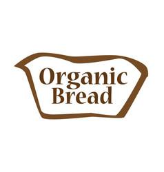 Organic bread outline shape vector
