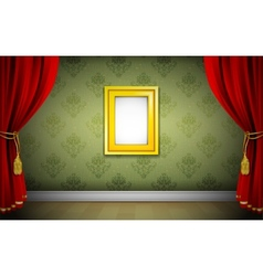 Photo Frame on Wallpaper vector