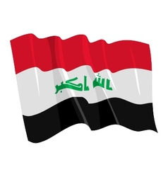 Political waving flag of iraq vector