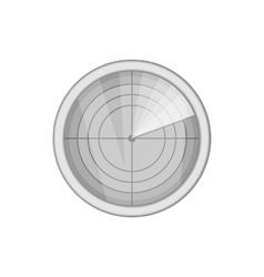 Radar icon black monochrome style vector image