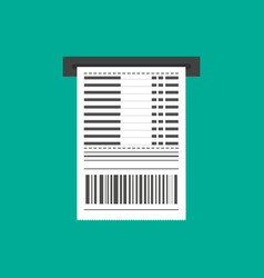 receipt icon invoice sign bill atm template or vector image