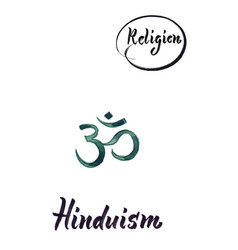 religious sign-hinduism vector image