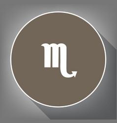scorpio sign white icon on vector image