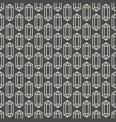 Seamless pattern with crystal symbol vector