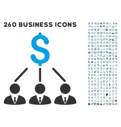 Shareholders Icon with Flat Set vector image