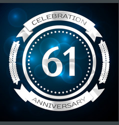 sixty one years anniversary celebration with vector image