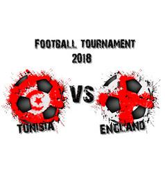 Soccer game tunisia vs england vector
