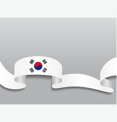 South korean flag wavy abstract background vector